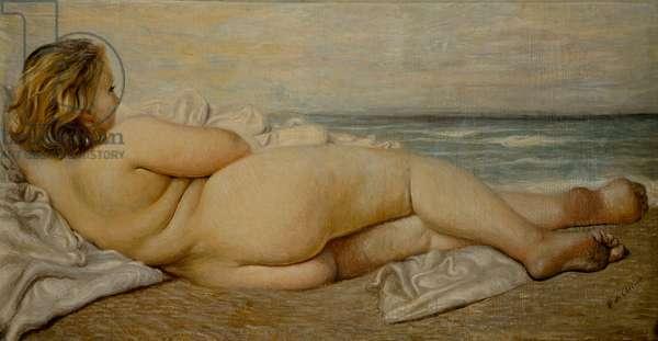Reclining Bather. Alcmene's Rest, 1932 (oil on canvas)
