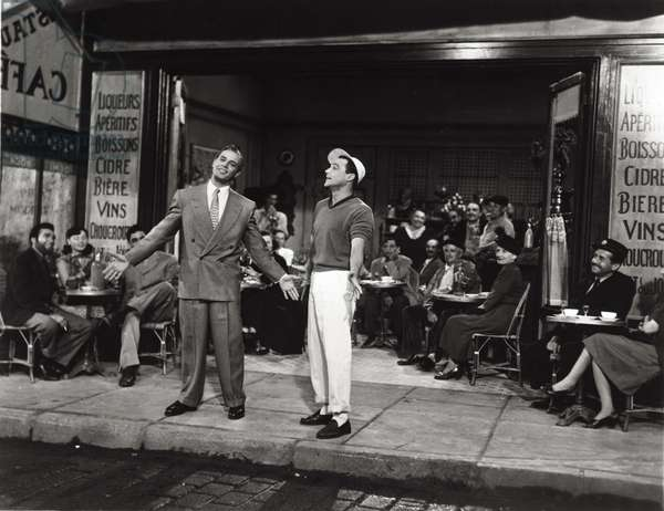 Gene Kelly and Georges Guetary in 'An American in Paris', 1951 (b/w photo)