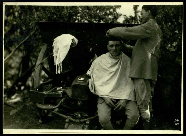 On the Bainsizza, the barber in the battery , Slovenia