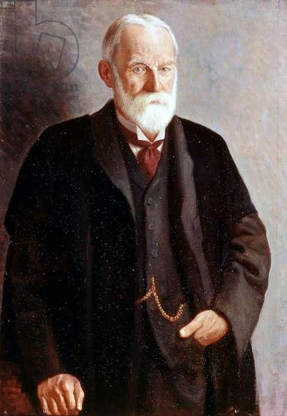 Portrait of Sir George Howard Darwin, by Mark Gertler, 1912, 20th Century (oil on canvas)