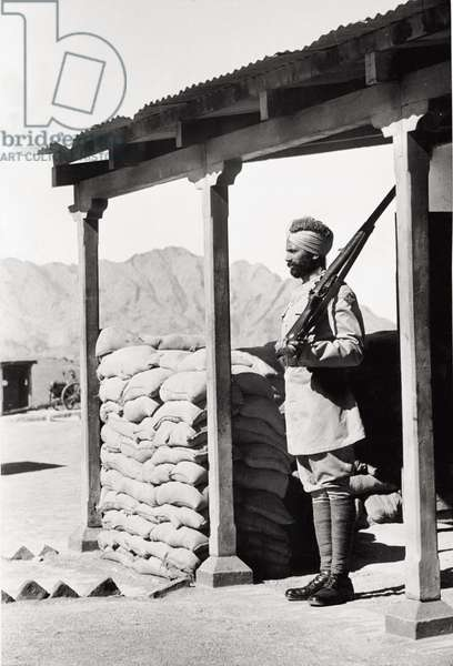 Sikh Indian sentry on Khyber Pass
