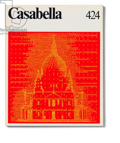 Cover of Casabella, N. 424, April 1977, 20th Century, graphic, 31 x 24,5 cm