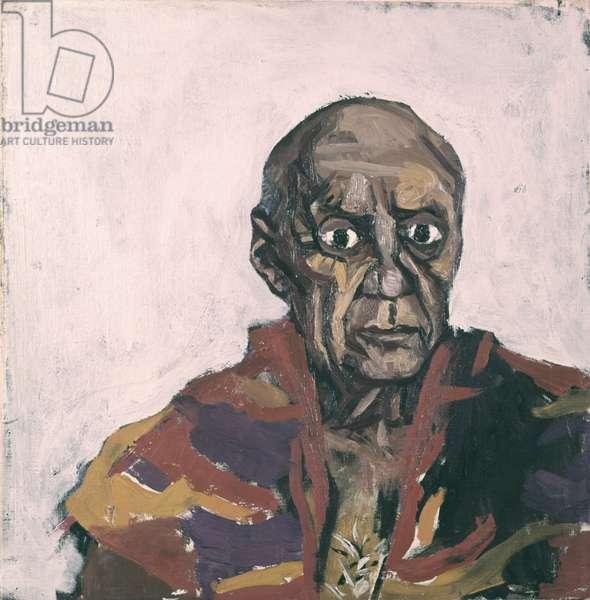 Portrait of Pablo Picasso (Ritratto di Pablo Picasso), by Renato Guttuso, 1959, 20th Century, oil on canvas