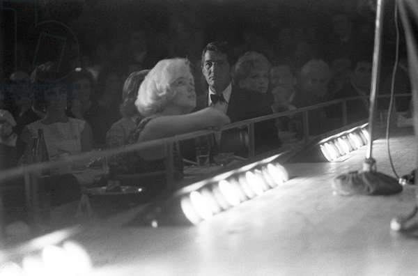 Marilyn Monroe and Dean Martin at Frank Sinatra's concert, 1961 (b/w photo)
