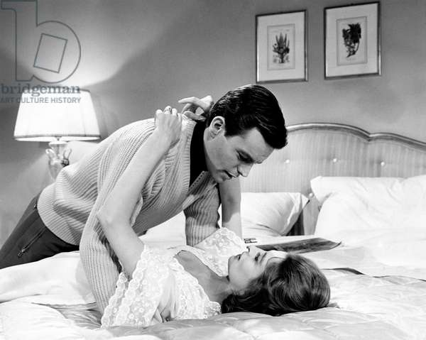 Capucine and Robert Wagner in 'The Pink Panther', 1963 (b/w photo)