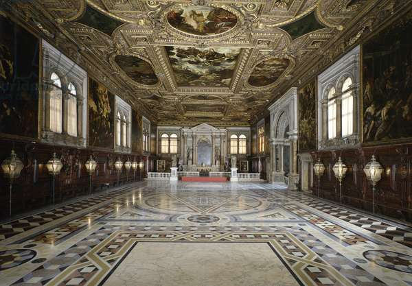 Upper Hall and Treasury, by Jacopo Robusti known as Tintoretto, 1576, 16th century.