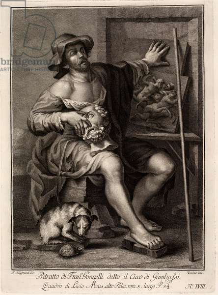 Francesco Gonnelli (Allegory of the Touch), 17th century (engraving)