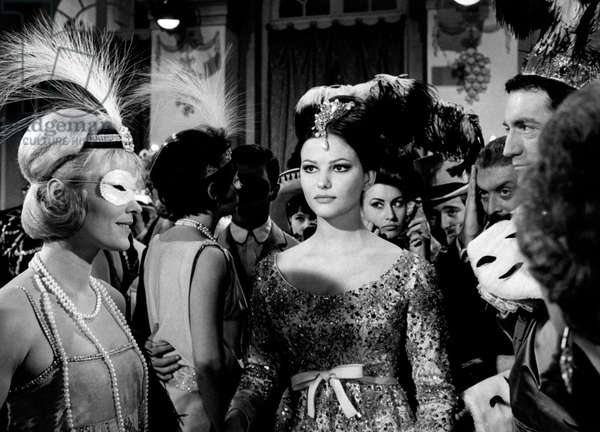 Claudia Cardinale in a scene from the movie The Pink Panther, 1963 (b/w photo)