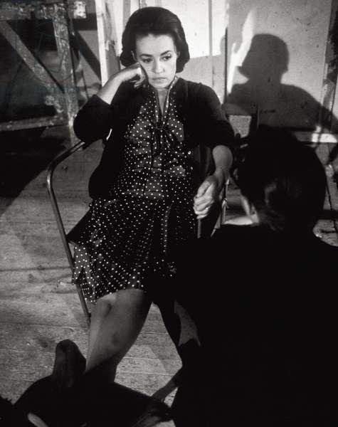 Jeanne Moreau in 'The Train' (b/w photo)
