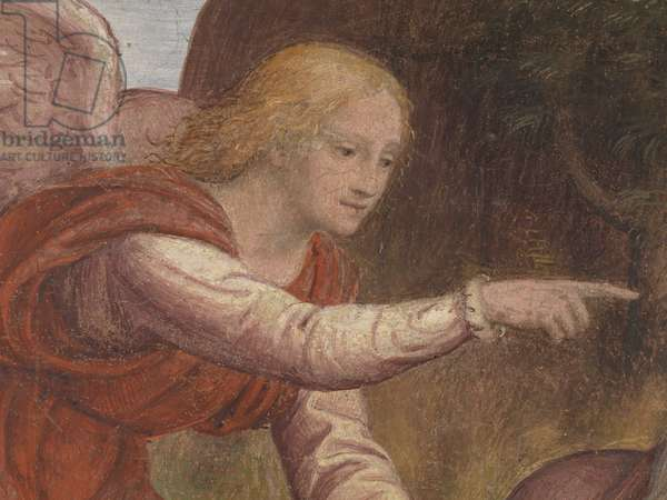Elijah and the Angel (fresco transferred to canvas)