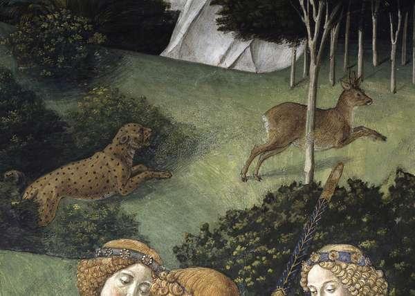 Journey of the Magi or Procession of the Magi, by Benozzo di Lese di Sandro detto Benozzo Gozzoli, 1459, 15th Century, fresco