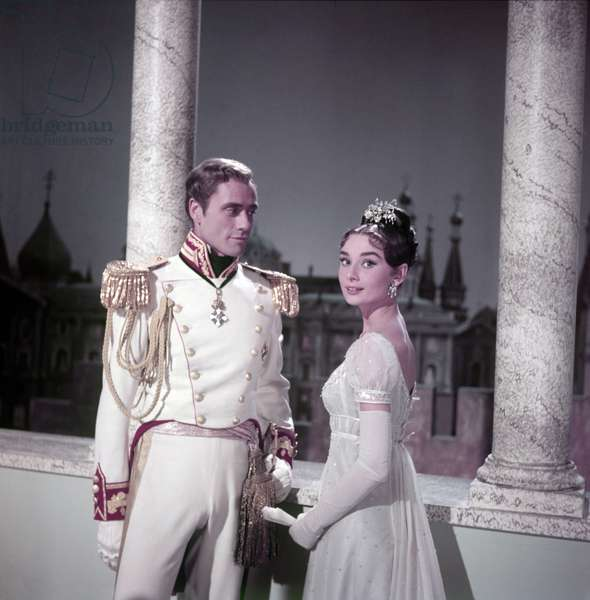 Mel Ferrer and Audrey Hepburn in War and Peace (photo)