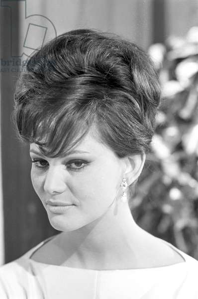 Claudia Cardinale with hairstyle, 1963 (b/w photo)