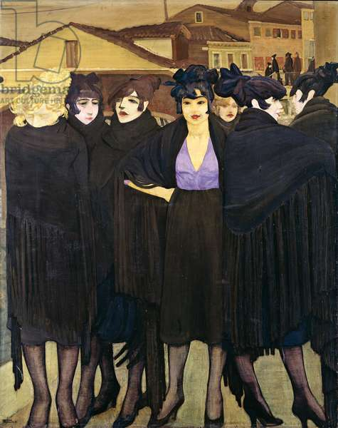The tobacconists (Le Tabacchine), 1920 (oil on canvas)