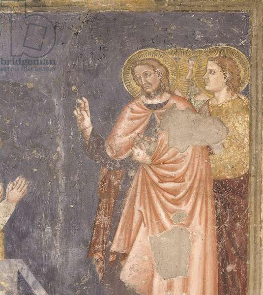 Resurrection of Lazarus, by Master of the Most Holy Trinity, 14th Century, fresco
