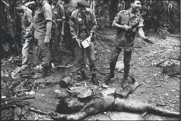 Insulting behavior to a Viet Cong corpse