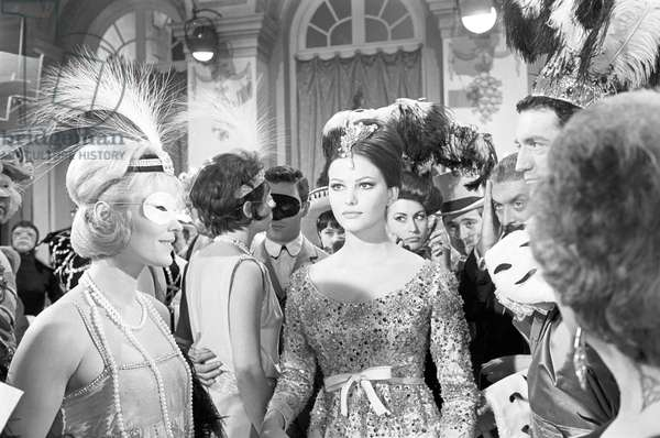 Claudia Cardinale in a scene from the film 'The Pink Panther', 1963 (b/w photo)