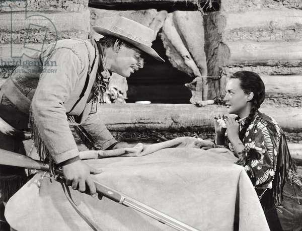 Clark Gable in a scene of the film 'Across the Wide Missouri', 1951 (b/w photo)