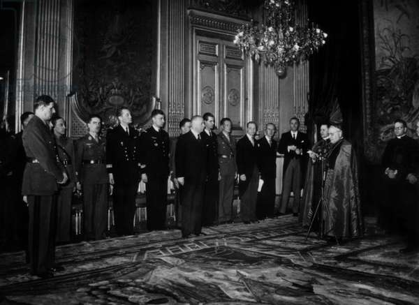 Angelo Roncalli presenting his credentials