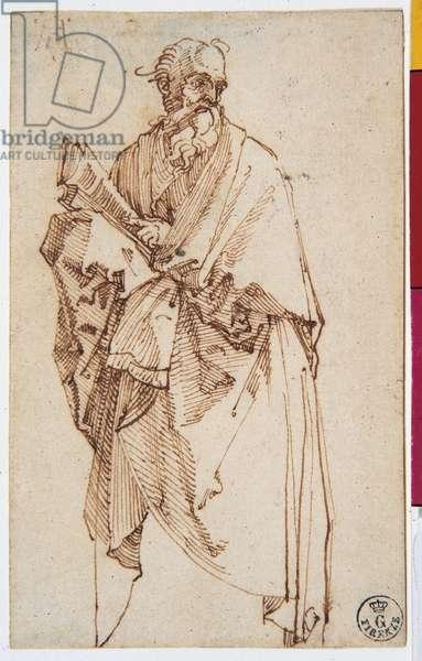 Saint Paul, by Albrecht Durer, 1514, 16th Century, drawing