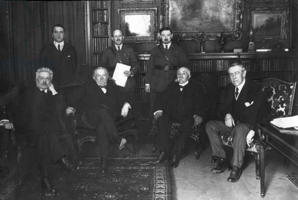 Treaty of Versailles, France, 1919 (b/w photo)