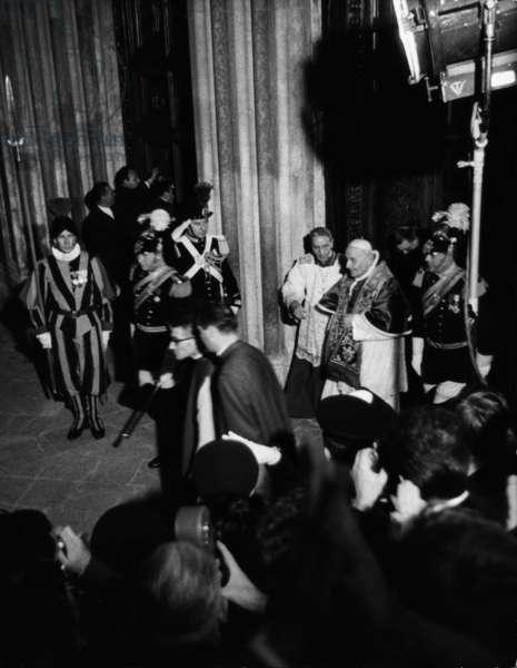 Pope John XXIII making a pilgrimage