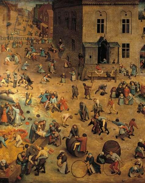 Children's Games, by Pieter Bruegel the elder, 1560, 16th secolo, oli on board 118 x 161 cm