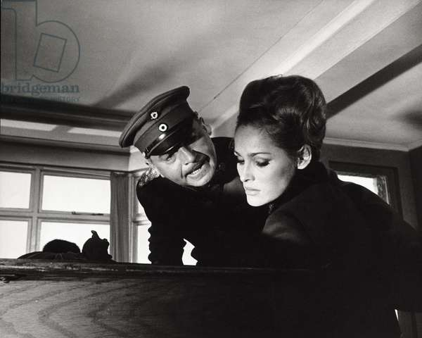 Ursula Andress and James Mason in 'The Blue Max' (b/w photo)