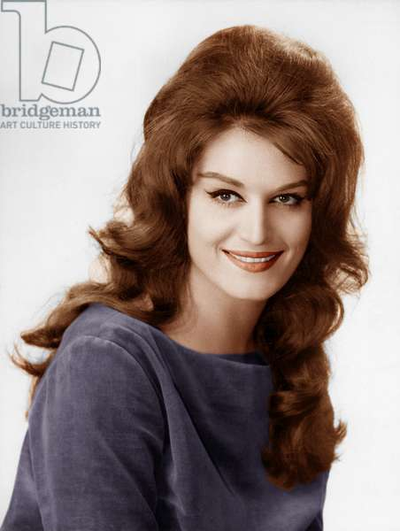 Portrait of Dalida smiling, France