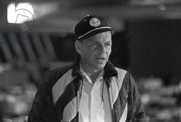 Frank Sinatra rehearsing his show, 1964 (b/w photo)
