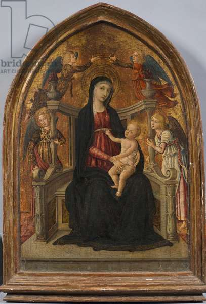 Madonna and Child Enthroned with Four Angels, c.1480 (tempera on board)