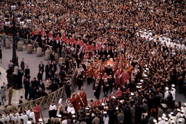 The funeral of Pope John XXIII, Rome, Italy