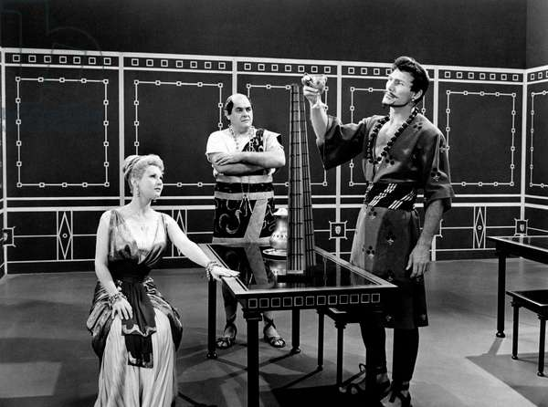 Virginia Mayo, Jack Palance and Robert Middleton in The Silver Chalice