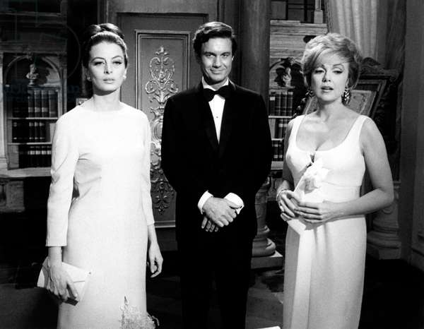 Capucine, Cliff Robertson and Edie Adams in 'The Honey Pot', 1967 (b/w photo)