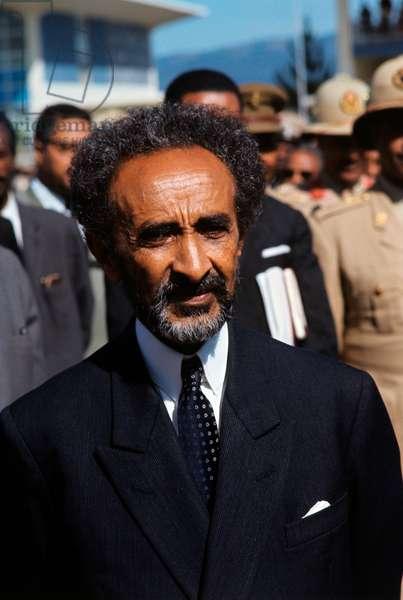 Hailè Selassiè dressed elegantly in a public ceremony, Ethiopia