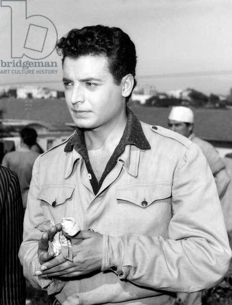 Portrait of Tony Angeli, 1957 (b/w photo)