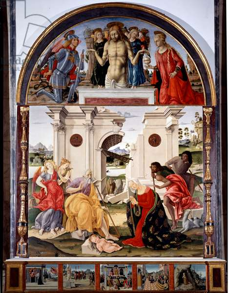 The Adoration of the Child, 1490 (panel painting)