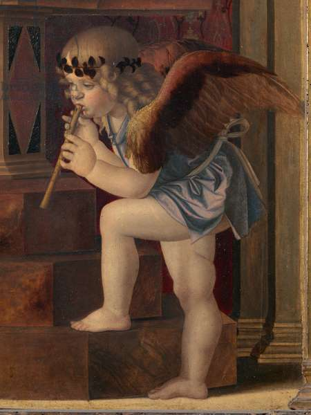 Frari Triptych, by Giovanni Bellini, 1485 - 1488 about, 15th Century (panel)  cm 184 x 79