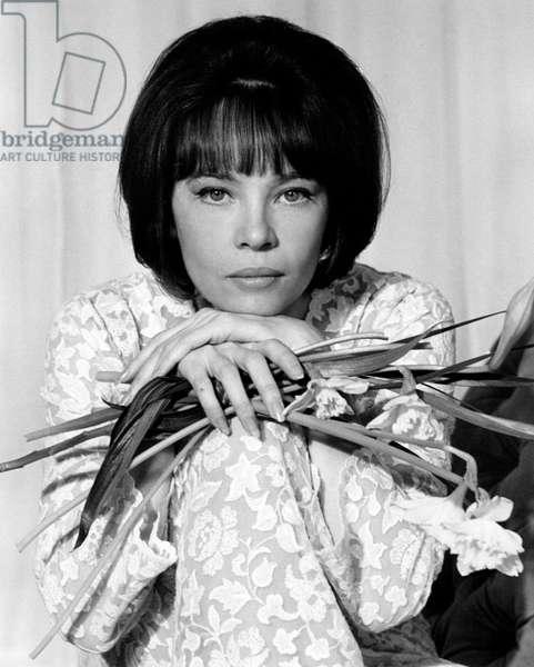 A portrait of Leslie Caron, 1965 (b/w photo)