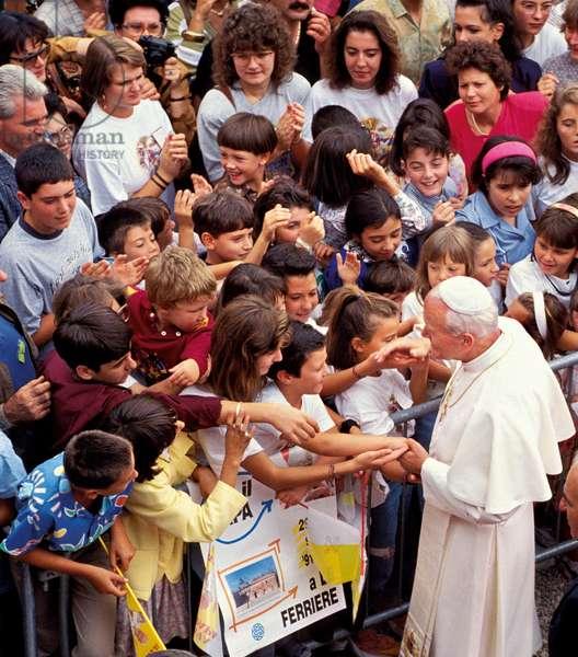 Pope John Paul II, Le Ferriere, Italy