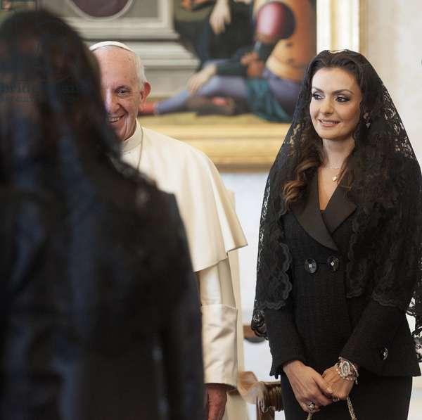 Pope Francis and Saød Hariri, Holy See, 2017 (photo)
