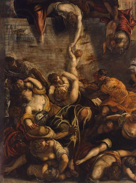 The Slaughter of the Innocents, by Jacopo Robusti known as Tintoretto, 1583, 16th century.