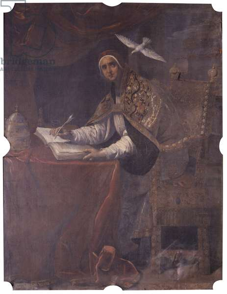 The Four Doctors of the Church. St. Gregory the Great, by Orazio Fidani, half 17th Century, oil on canvas