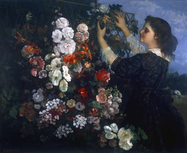 The pergola, by Gustave Courbet, 1862, 19th Century, oil on canvas, 109,8 x 135,2 cm