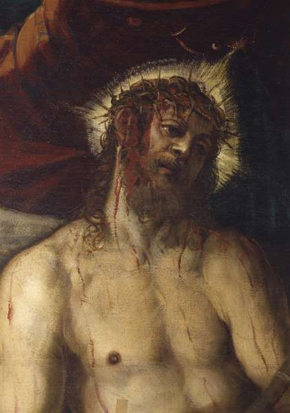 Ecce homo, by Jacopo Robusti also known as Tintoretto, 1566 - 1567, 16th century, oil on canvas