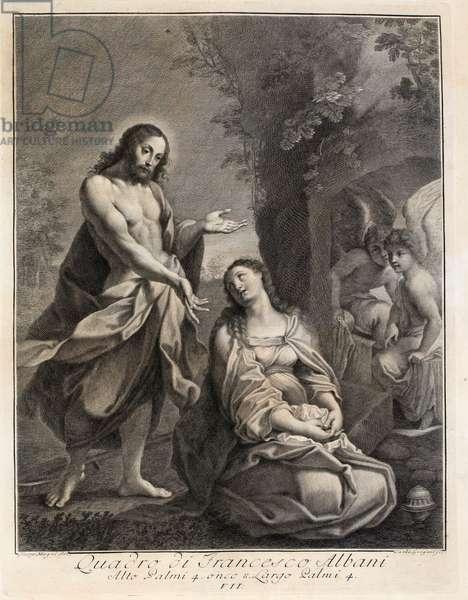 Noli me tangere, 17th century (engraving)