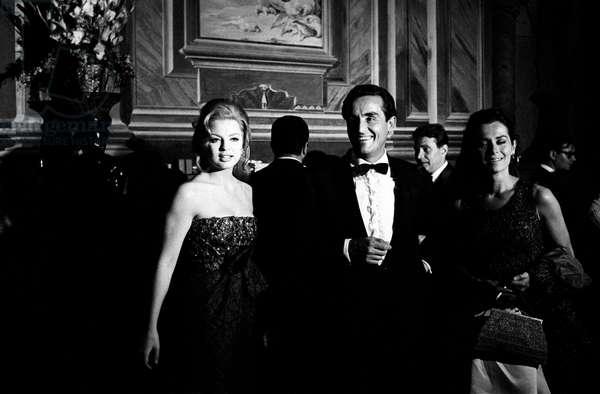 Vittorio Gassman, Margaret Lee and Juliette Mayniel at 27th Venice International Film Festival