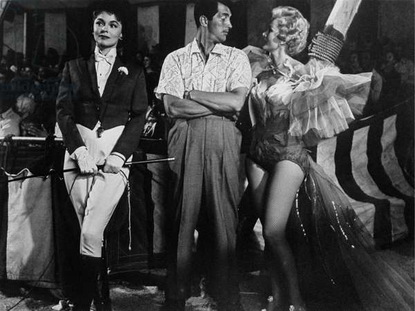 Joanne Dru, Dean Martin and Zsa Zsa Gabor at the circus, United States