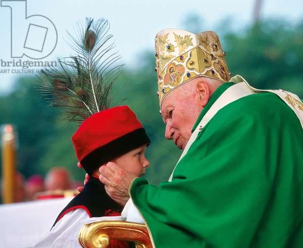 Pope John Paul II in Krakow, Poland