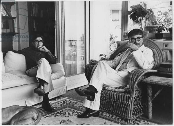 Paolo and Vittorio Taviani seated in a living-room